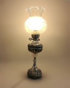 Silver lamp hand made