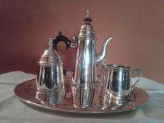 Silver plated metal tea or coffee serving set