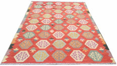 DOUBLE FACE NEW Afghan Oriental Hand Woven Veg Dyes Kelim Large Area Rug 297 cm x 195 cm