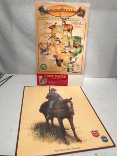 Lone Star Beer USA dealer display 1993 and litho/poster  1984-1985