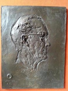 Rare bronze plaque of Prince Bernhard from the Dutch Embassy in Vatican City
