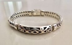 925/1000 sterling silver bracelet - total length 21.5 cm
