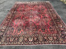 American Sarough - oriental carpet - 100% hand-knotted