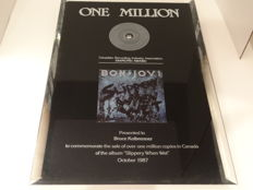 Diamond award #1 - Bon Jovi - Slippery when wet