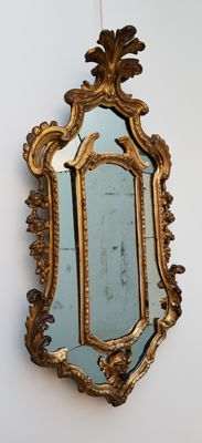 Rococo gilt wooden mirror - South Germany - mid 18th century