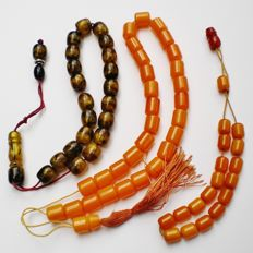 Three Islamic bakelite rosaries, total weight: 64 grams