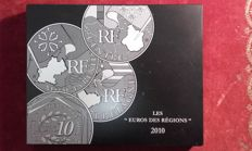 France – Lot of 26 coins of €10 – 2010 – silver