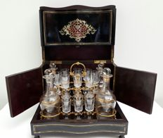 Liquor cellar Napoleon III with Boulle technique - France - circa 1870