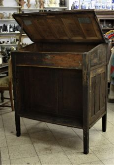 Beautiful old lectern cabinet from old forge, the Netherlands, 1950s