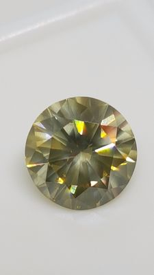 1.57 ct - Round Brilliant - Yellow - VVS2