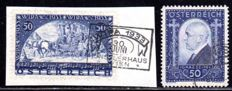 Austria - 1933 - Wipa stamp with granite paper on a piece of letter, Michel 556A