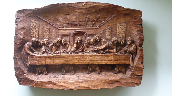 Wood carving last supper france first half th century catawiki