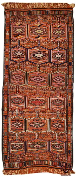 Antique Kilim Turkyeh, 122 x 300 cm
