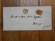 France 1853 – Letter with Napoléon Presidency 10 centimes – Yvert no. 9.