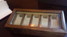 Ebony box for 5 wristwatches — Exclusive solid wooden box, Walwood brand