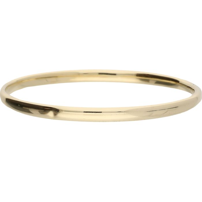 14 kt Yellow gold bangle with a bolt clasp - Diameter: 6.15 cm