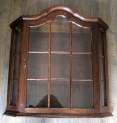 Beautiful oak wall display case (display cabinet) - circa 1950s