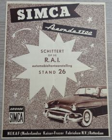 Simca - Lot of 37 Advertisements from 1950 to 1961