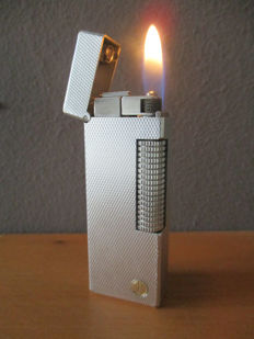 Dunhill lighter silver plated swiss made