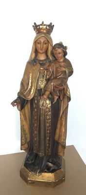 Great statue of Virgin Mary with Child Jesus - Spain - first third of 20th century