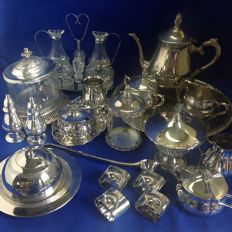 Beautiful silver plated kitchen stuff.