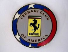 Ferrari - Enamelled Ferrari Club Of America badge