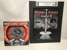 OCC Orange County Chopper metal sign and clock USA 2009