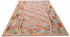 DOUBLE FACE NEW Afghan Oriental Hand Woven Veg Dyes Kelim Large Area Rug 303 cm x 203 cm