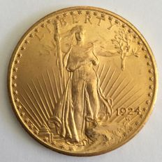 United States – 20 dollars 1924 'St. Gaudens Double Eagle' – gold