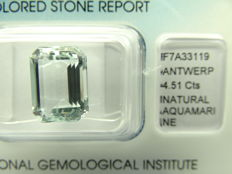 Aquamarine - 4,51 ct