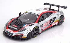 "Minichamps - Scale 1/18 - McLaren 12C GT3 # 107, ""Hexis Racing"", 24h Spa 2013"