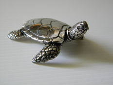 Silver turtle, manufacturer 105AR, Italy, 20th century