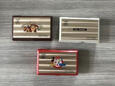 Lot of 3 Game & Watch : Donkey Kong 2 , Oil Panic and Mickey & Donald.