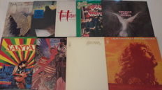 Set of 9 Rock LP Album - Santana 4x, Barclay James Harvest, Styx, Tina Turner, Procol Harum (2 LP Album), Emerson Lake & Palmer