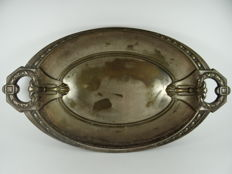 Antique vintage silverplate tray platter art nouveau deco secession jugend