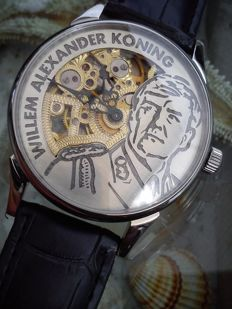"Molnija ""Willem-Alexander"" XL skeleton marriage men's wristwatch."