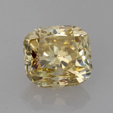 1.03 ct Cushion cut diamond fancy Brownish Yellow natural colour VS1  **LOW RESERVE PRICE**