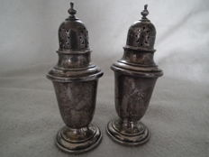 Silver pepper- and salt shaker, Gorham, America, approx. 1900 model 758