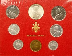 Vatican - coin set 1963 Pope Paul VI (with 500 lire silver)
