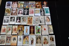 Lot of 588 pious images classified - popes, saints, Jesus, illuminations, special, Virgin Mary, communicants, images for kids and 110 old papers-19th, 20th