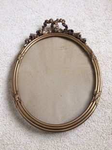 Oval French frame with crest France - late 19th century