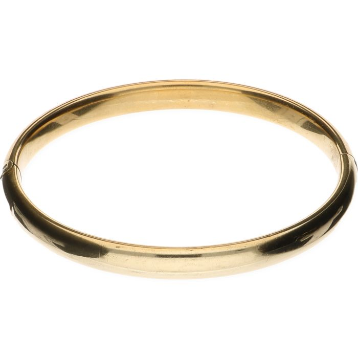 14 kt yellow gold bangle – Inner size: 6 cm