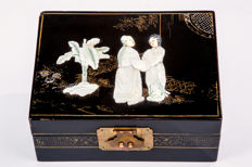 Antique Chinese nacre plated box