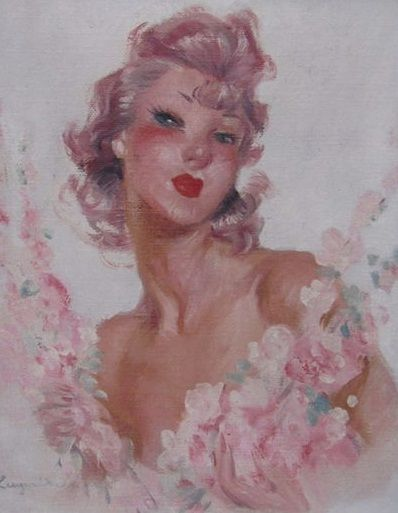 After Jean Gabriel Domergue - Portrait de pin-up