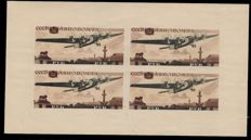 URSS 1937 - block sheet for aviation exhibition - Zumstein 565