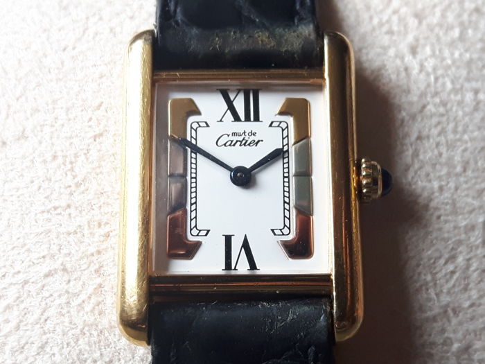 9f015c615ce Must de Cartier Tank Ref. 5057001 - Ladies watch - Running perfectly -  Original deployment