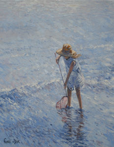 Chris van Dijk (1952-) - Trying to catch something