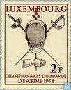 Postage Stamps - Luxembourg - World Fencing Championships
