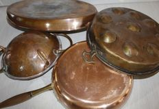 Copper cookware set various