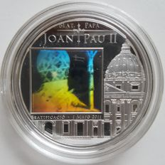 Andorra - 5 Diners 2011 'John Paul II' with hologram - silver